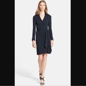 Diane Von Furstenberg Jeanne Two Dress wrap Navy